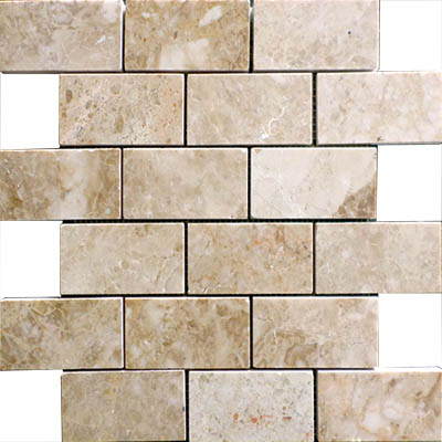 CAPPUCCINO MARBLE MOSAIC 2X4