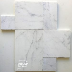 MARBLE PAVER WHITE CARRARA FRENCH PATTERN 01