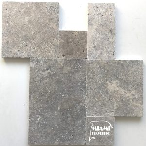 TRAVERTINE PAVER FRENCH PATTERN SILVER 01