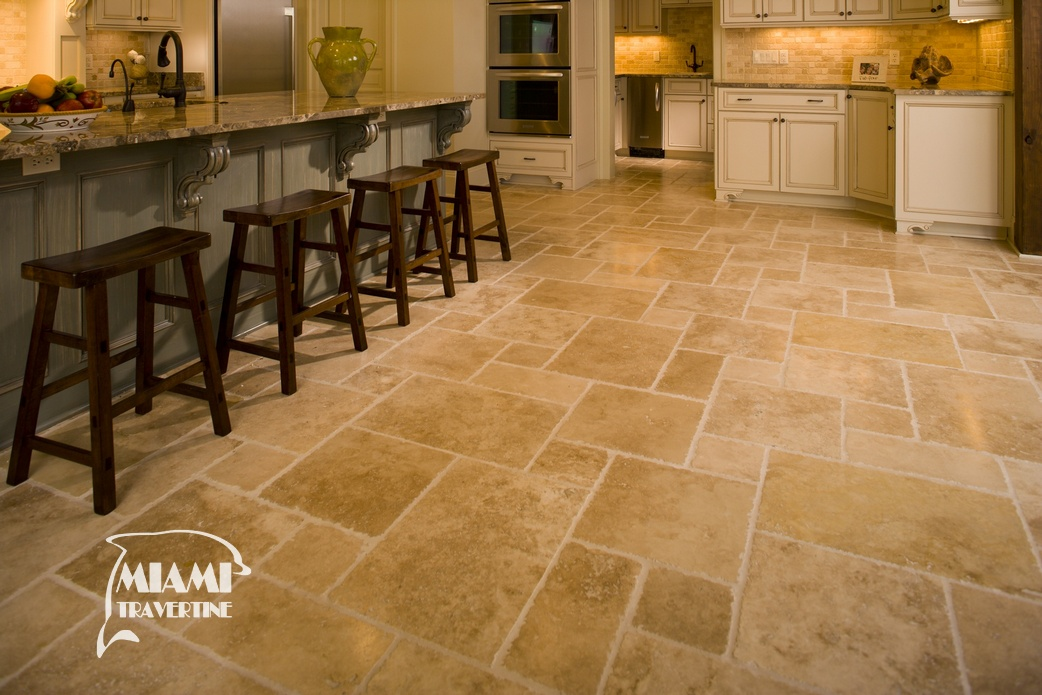 TRAVERTINE TILE FRENCH PATTERN IVORY 04