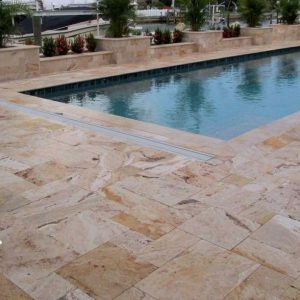 TRAVERTINE TILE FRENCH PATTERN LEONARDO 02