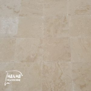 travertine tile honed filled 18x18 ivory classic 01