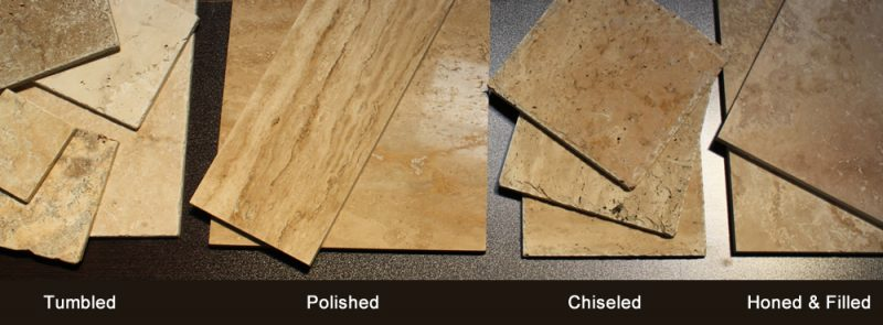 TRAVERTINE FINISH TYPES