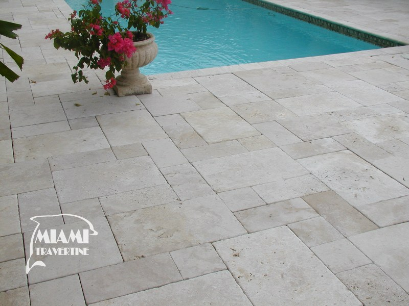 Travertine Pavers French Pattern Ivory