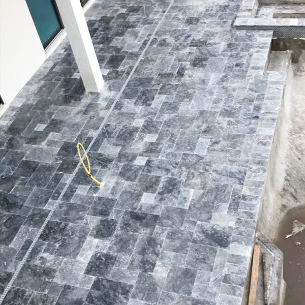 BLUE SKY MARBLE PAVER FRENCH PATTERN 04