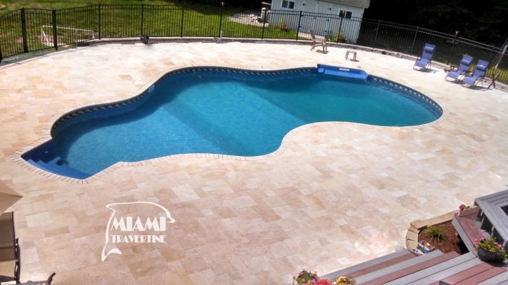 Miami Travertine French Pattern Pavers