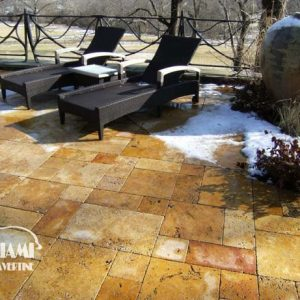 TRAVERTINE FRENCH PATTERN GOLD 07