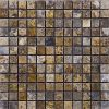 TRAVERTINE MOSAIC AUTUMN BLEND 1X1