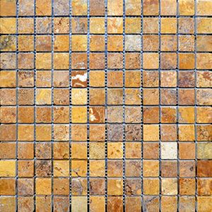 TRAVERTINE MOSAIC GOLD 1X1