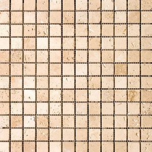 TRAVERTINE MOSAIC IVORY 1X1