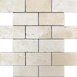 TRAVERTINE MOSAIC IVORY 2X4