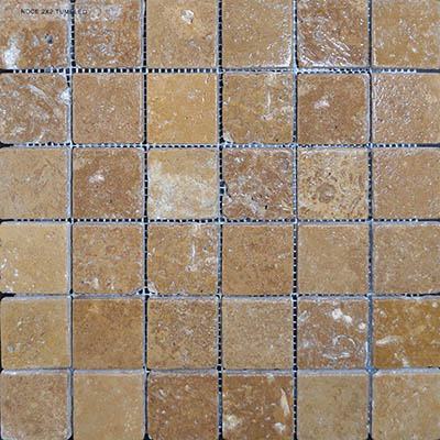TRAVERTINE MOSAIC NOCHE 2X2