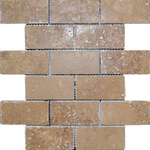TRAVERTINE MOSAIC NOCHE 2X4