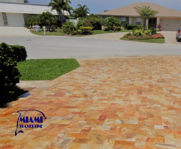 TRAVERTINE PAVER 6X12 AUTUMN BLEND