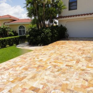 TRAVERTINE PAVER AUTUMN BLEND 6X12 03