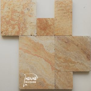 TRAVERTINE PAVER FRENCH PATTERN AUTUMN BLEND 01