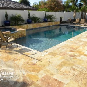 TRAVERTINE PAVER FRENCH PATTERN AUTUMN BLEND 03