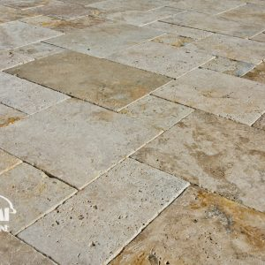 TRAVERTINE PAVER FRENCH PATTERN COUNTRY CLASSIC 03
