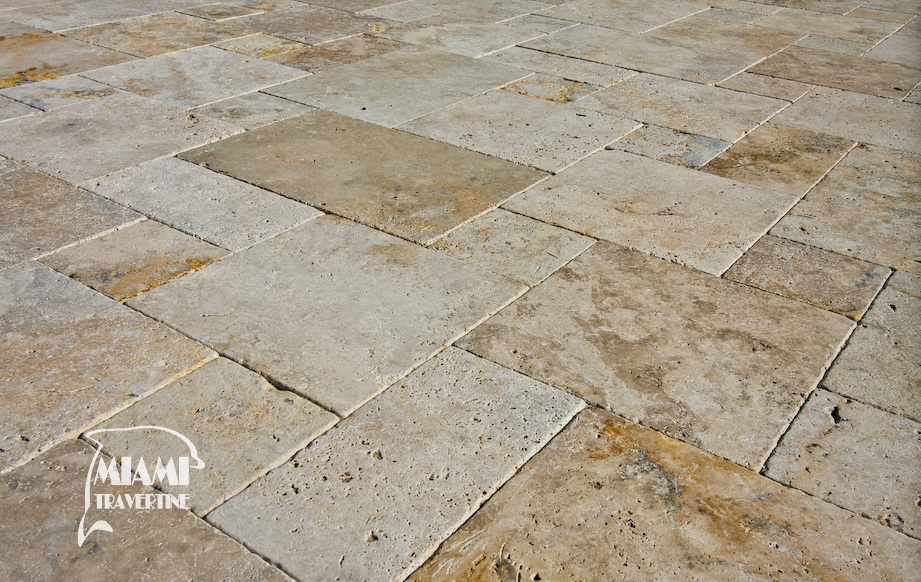 Travertine Paver French Pattern Country Clic 03