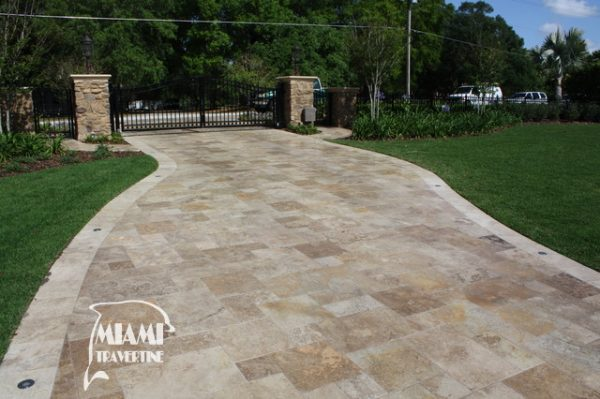 TRAVERTINE PAVER FRENCH PATTERN COUNTRY CLASSIC 04