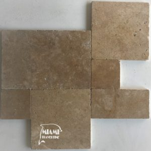 TRAVERTINE PAVER FRENCH PATTERN NOCHE 01