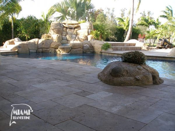 TRAVERTINE PAVER FRENCH PATTERN NOCHE 03