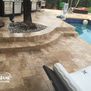TRAVERTINE PAVER FRENCH PATTERN NOCHE 04