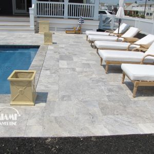 TRAVERTINE PAVER FRENCH PATTERN SILVER 04