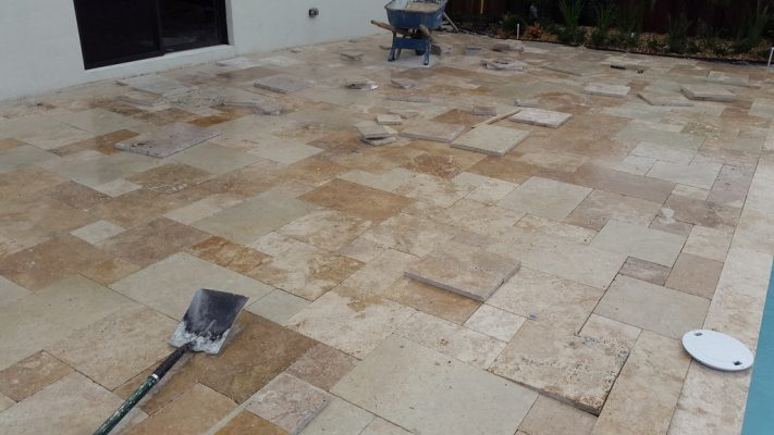 TRAVERTINE PAVER INSTALLATION