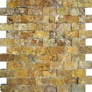 TRAVERTINE SPLIT FACE AUTUMN BLEND 1X2