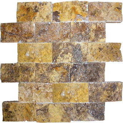TRAVERTINE SPLIT FACE AUTUMN BLEND 2X4