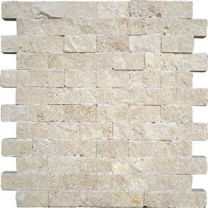 TRAVERTINE SPLIT FACE IVORY 1X2