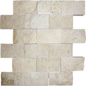 TRAVERTINE SPLIT FACE IVORY 2X4