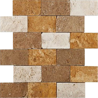 TRAVERTINE SPLIT FACE MIXED 2X4