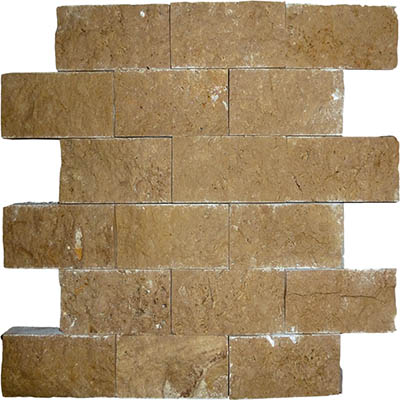 TRAVERTINE SPLIT FACE NOCHE 2X4