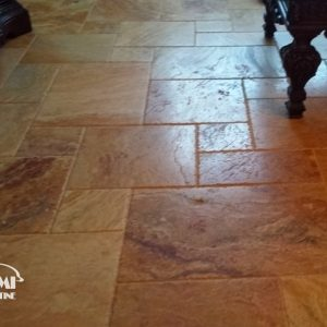 TRAVERTINE TILE FRENCH PATTERN AUTUMN BLEND 03