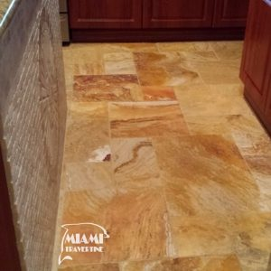 TRAVERTINE TILE FRENCH PATTERN AUTUMN BLEND 04