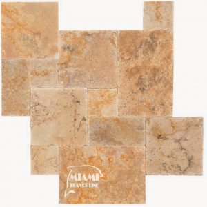 TRAVERTINE TILE FRENCH PATTERN COUNTRY CLASSIC 01
