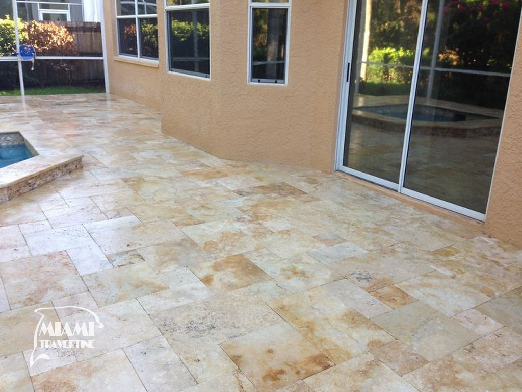 TRAVERTINE TILE FRENCH PATTERN COUNTRY CLASSIC 02