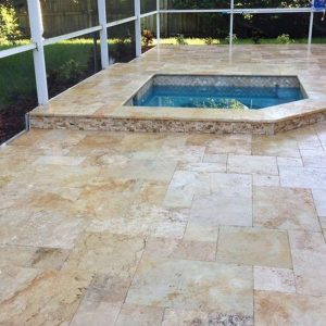 TRAVERTINE TILE FRENCH PATTERN COUNTRY CLASSIC 03