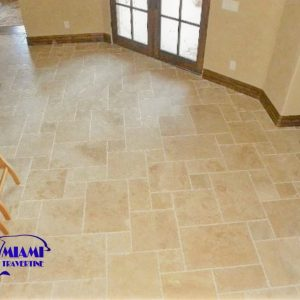 TRAVERTINE TILE FRENCH PATTERN IVORY