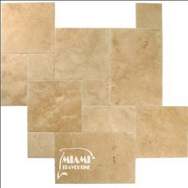 TRAVERTINE TILE FRENCH PATTERN IVORY 01