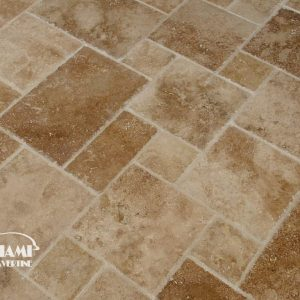 TRAVERTINE TILE FRENCH PATTERN NOCHE 03
