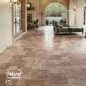 TRAVERTINE TILE FRENCH PATTERN NOCHE 05