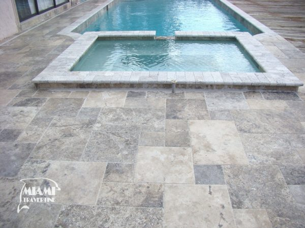 TRAVERTINE TILE FRENCH PATTERN SILVER 02