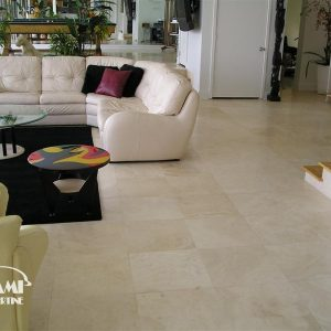 TRAVERTINE TILE HONED FILLED 18X18 IVORY SELECT 02