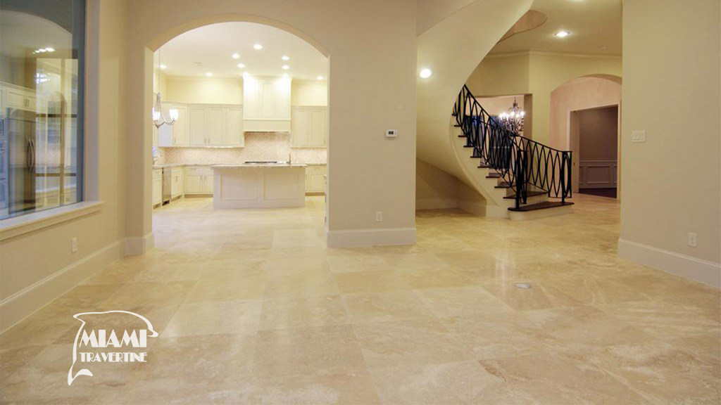 TRAVERTINE TILE HONED FILLED 24X24 IVORY CLASSIC 03