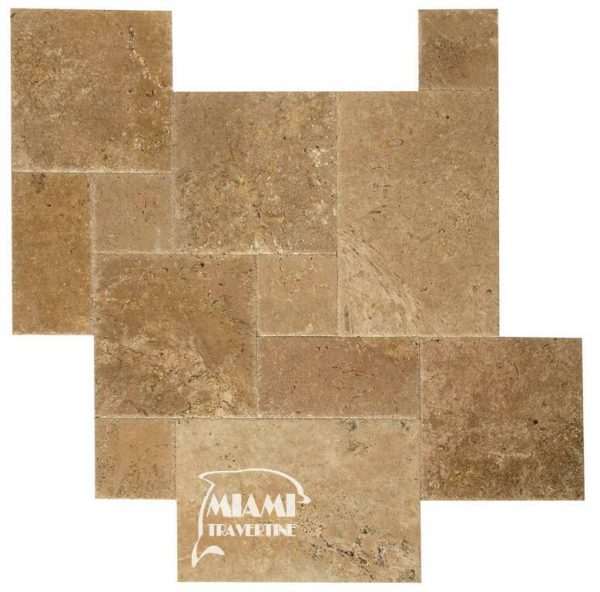 TRAVERTINE TILE FRENCH PATTERN NOCHE 01