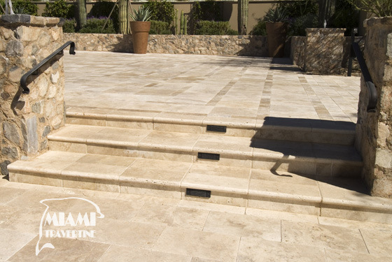 TRAVERTINE COPING 12X24 IVORY